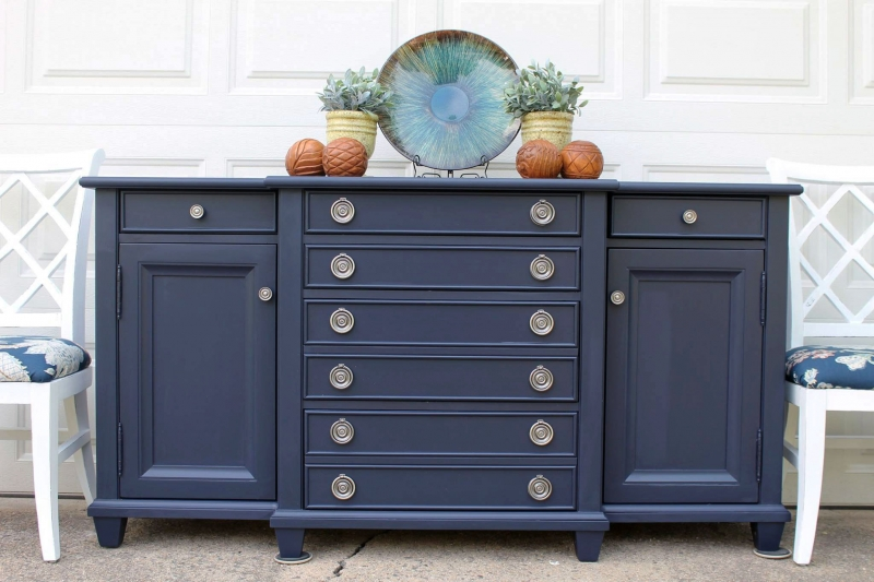 Coastal Blue Buffet General Finishes Design Center