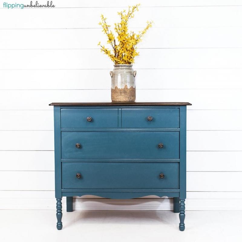 Blue Moon Dresser   General Finishes Design Center