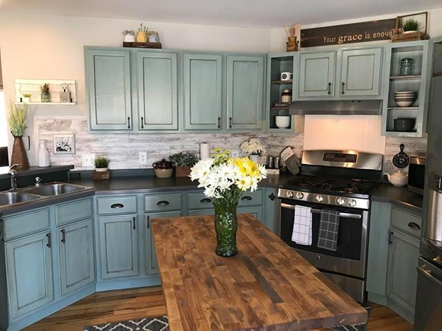 Grey Painted Countertops