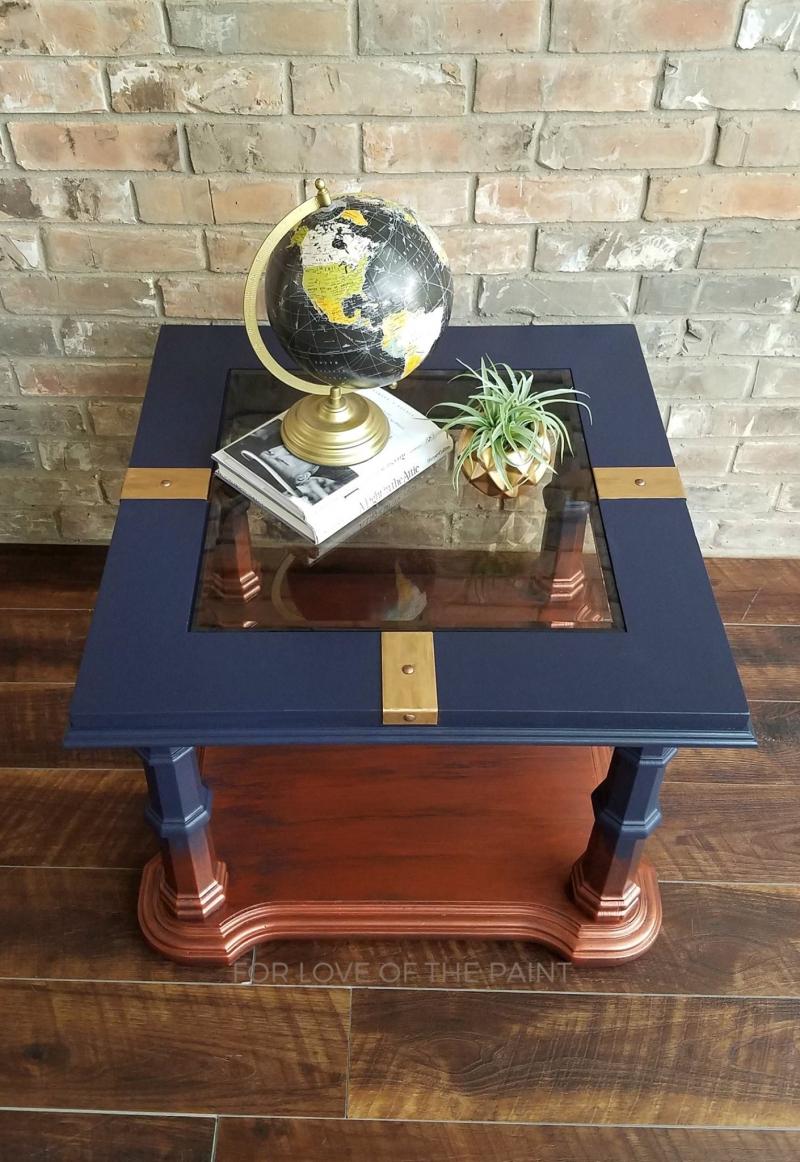 Stylish Blue Rubbed Gold Finish General Finishes Design