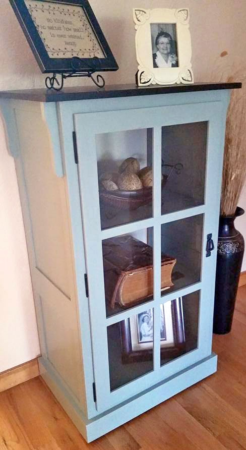 Persian Blue And Java Cabinet General Finishes Design Center