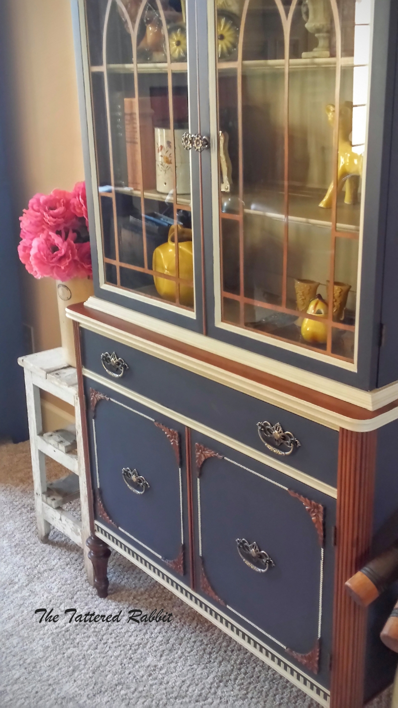 Pink And Green China Cabinet