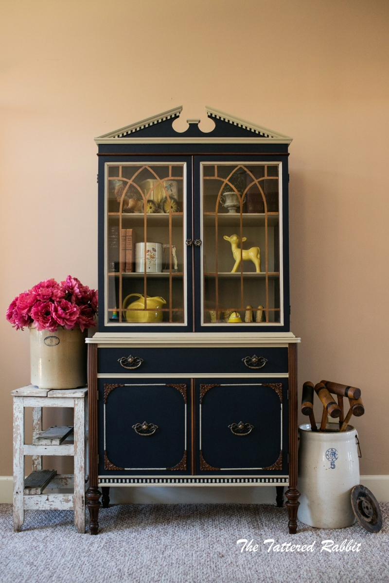 Hutch in Coastal Blue Milk Paint | General Finishes Design ...