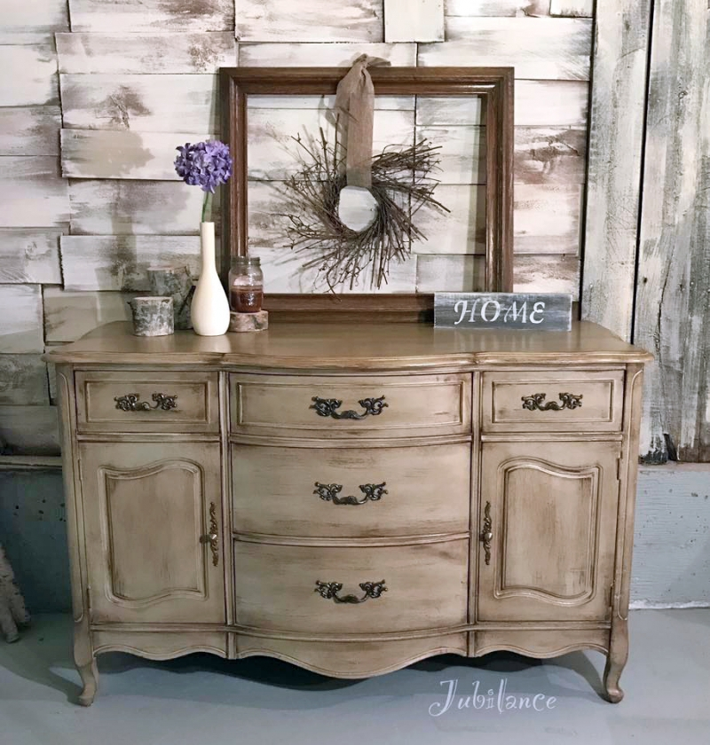 Van Dyke Brown Glazed Millstone Dresser General Finishes