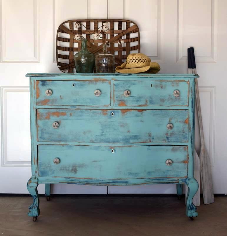 Key West Blue Distressed Dresser General Finishes Design Center