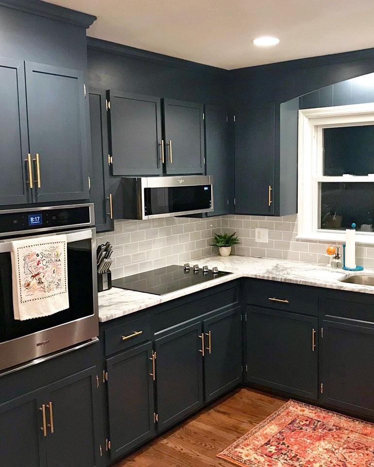Dark Custom Color Cabinets General Finishes Design Center