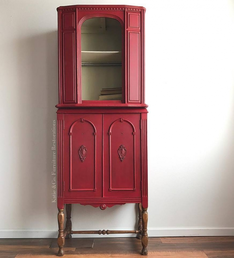Cute Cabinet In Custom Color Holiday Red Amp Linen General