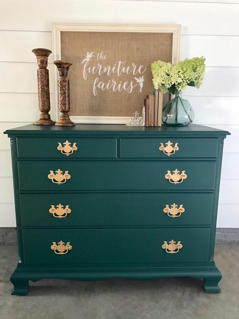 Dresser Custom Color Mix Coastal Blue Amp Emerald General Finishes Design Center