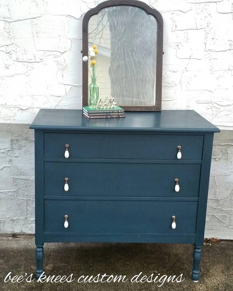 Custom Color Quot Kale Quot Teal Dresser General Finishes Design