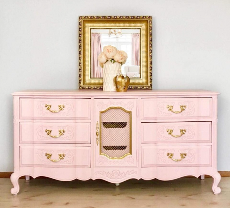French provincial set in custom color pink general for French provincial paint colors