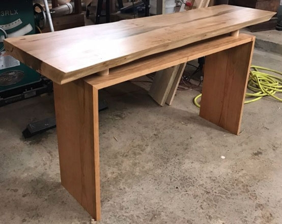 Live Edge Foyer Table : Live edge floating hall table in arm r seal general