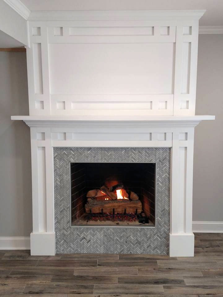 Fireplace Mantle In Snow White General Finishes Design
