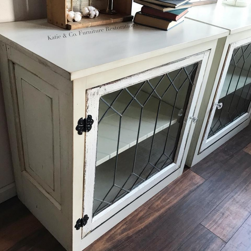 Custom End Tables In Antique White Milk Paint General