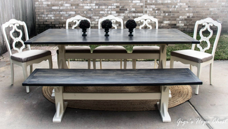 Custom Mixed Gel Stain Farmhouse Table General Finishes