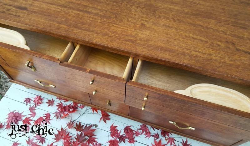 Mid Century Modern Dresser Refinished In Medium Brown