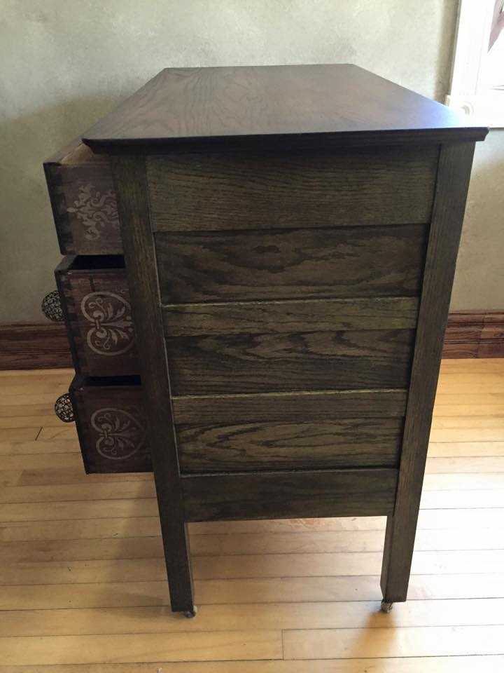Antique Dresser In Green Dye Stain General Finishes