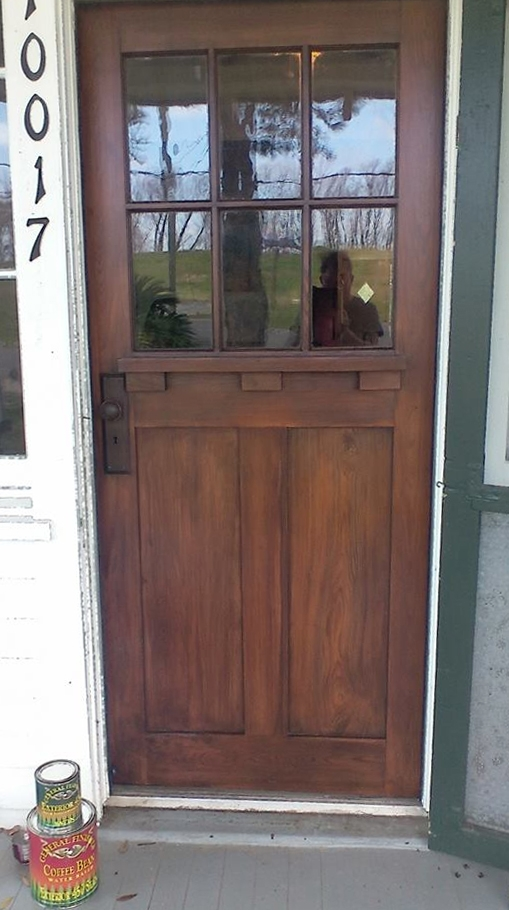 Door Refinished Using Exterior 450 Coffee Bean Stan And Exterior 450