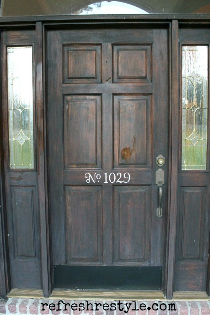 Front Door Makeover With Java Gel Stain General Finishes