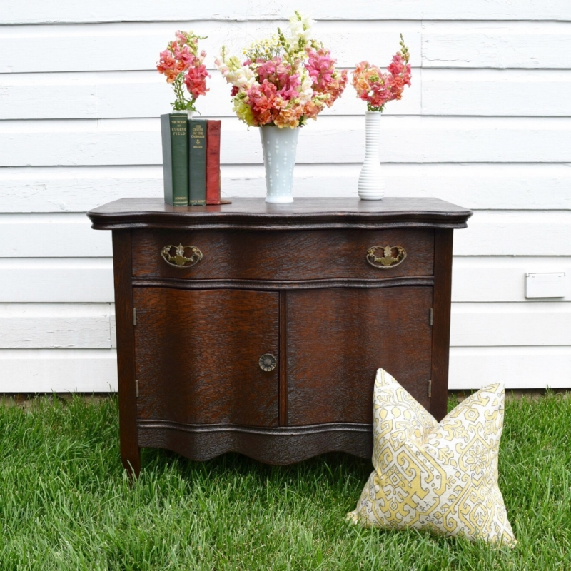 General Finishes Gel Stain Pint Or Furniture Oil Topcoat: Antique Java Gel Stained Oak Commode