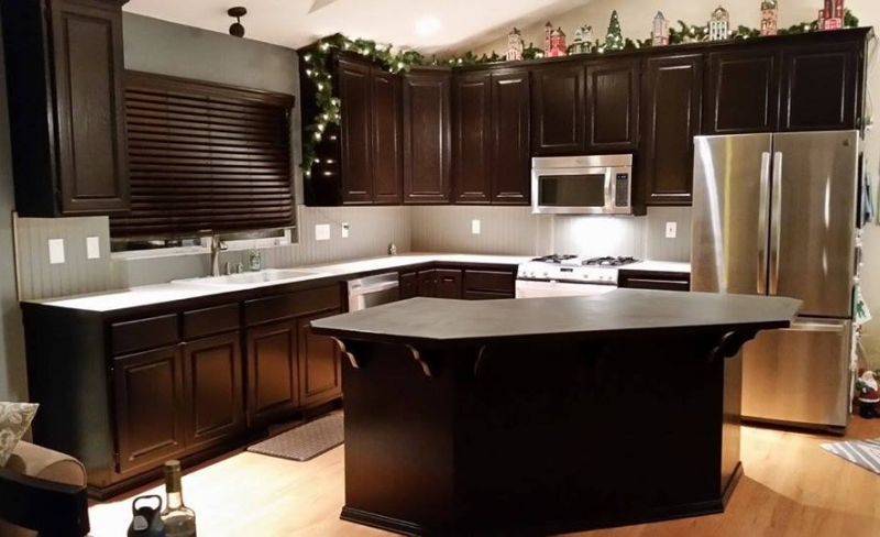 java stain kitchen cabinets kitchen makeover in java gel stain general finishes 4895