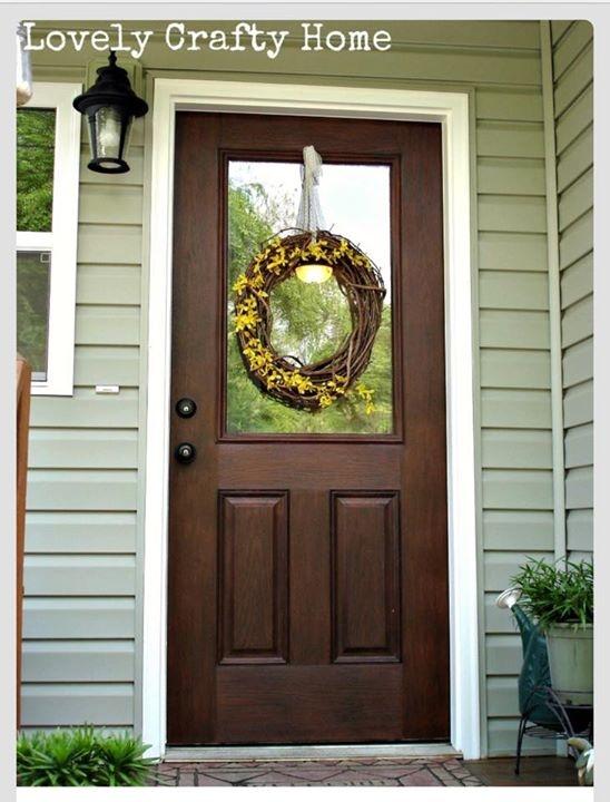 Fab Fiberglass Door Facelift With Java Gel Stain General