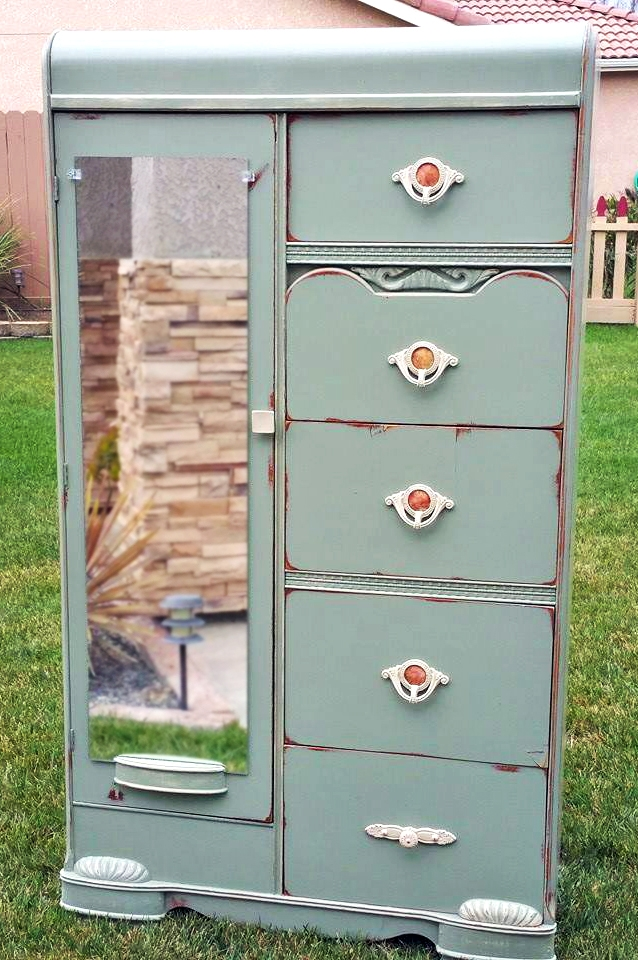 Gorgeous Basil Green Chest General Finishes Design Center