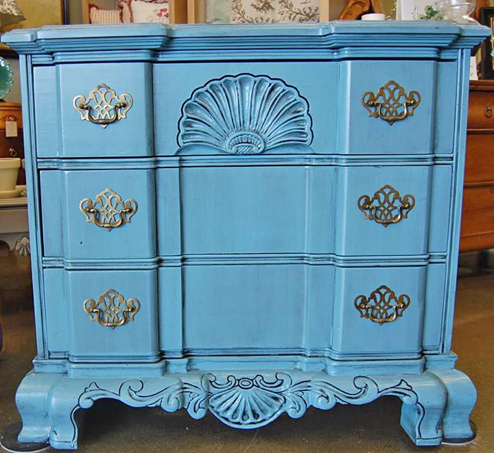 Carolina Tar Heel Chest In Halcyon Blue Milk Paint | General Finishes  Design Center