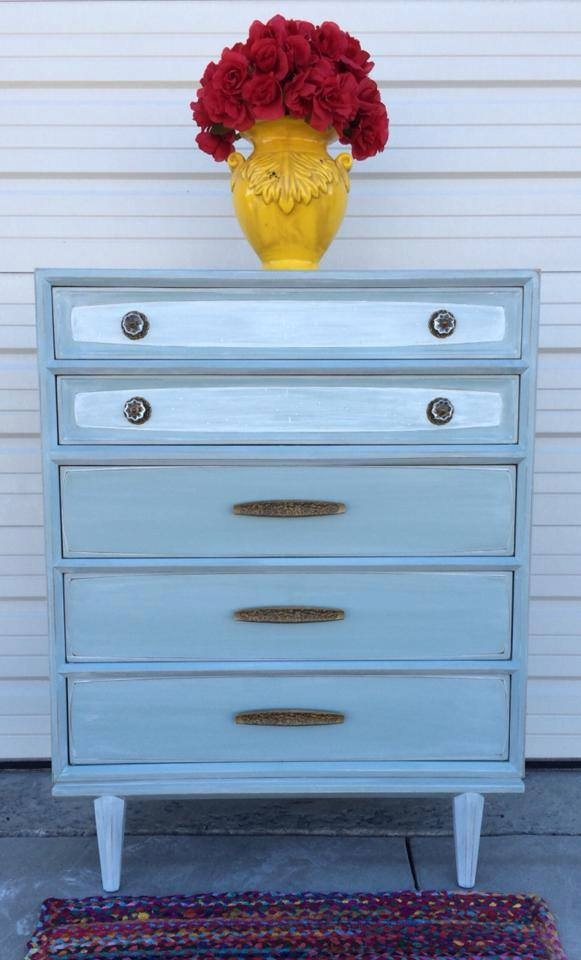 Persian Blue White Washed Dresser