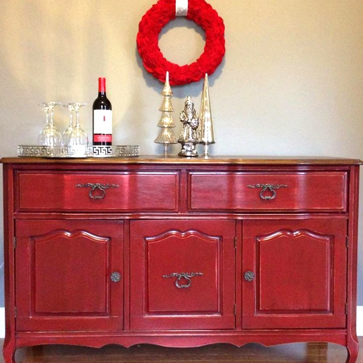 Tuscan Red And Antique Walnut Buffet General Finishes
