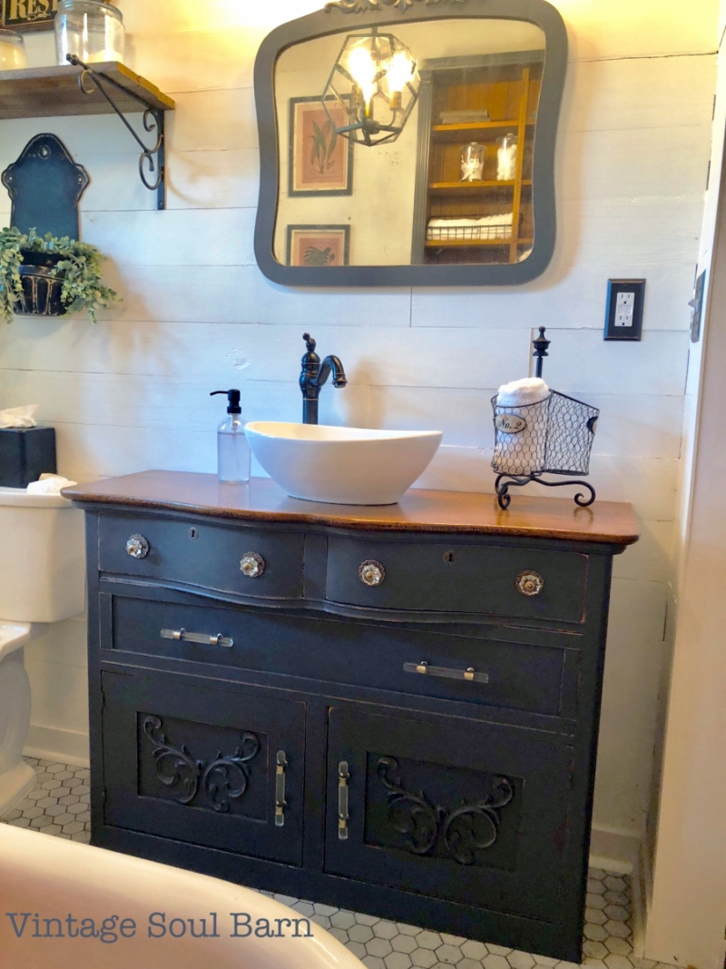 Upcycled Bathroom Vanity General Finishes Design Center