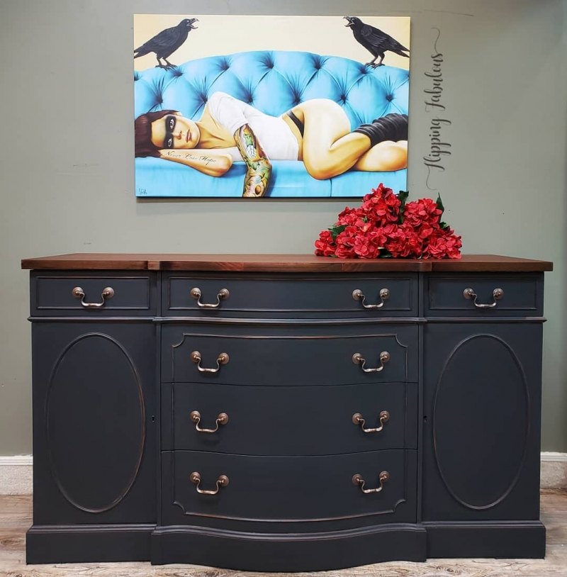 General Finishes Design Center: Dark Gray Custom Mixed Dresser
