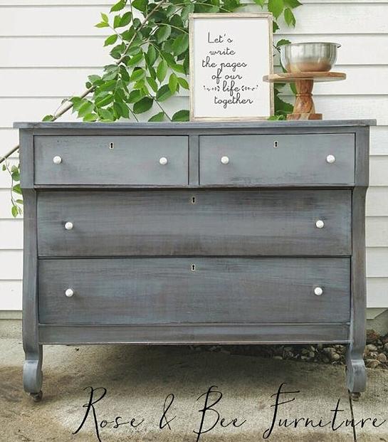 Custom Gray Painted Dresser General Finishes Design Center