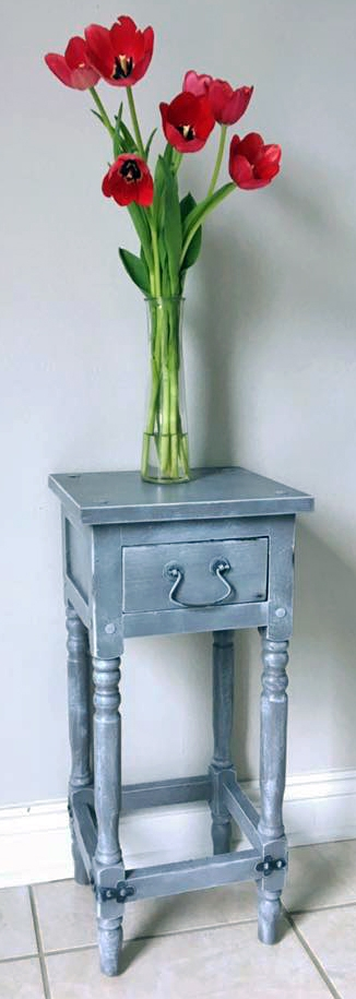Whitewashed Driftwood Gray Accent Table General Finishes