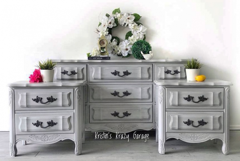 Seagull gray bedroom set general finishes design center - Paint finish for bedroom ...