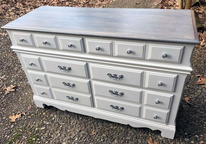 Gray Gel Stained Dresser Top General