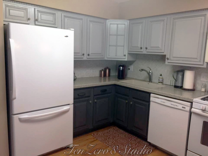 Seagull Gray And Driftwood Kitchen Cabinets General