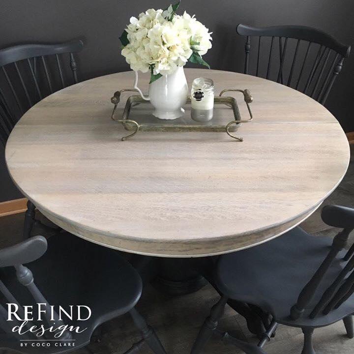 Natural White On Gray Dining Set General Finishes Design Center