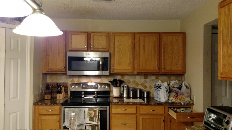 Kitchen Makeover in Gray Gel Stain   General Finishes ...