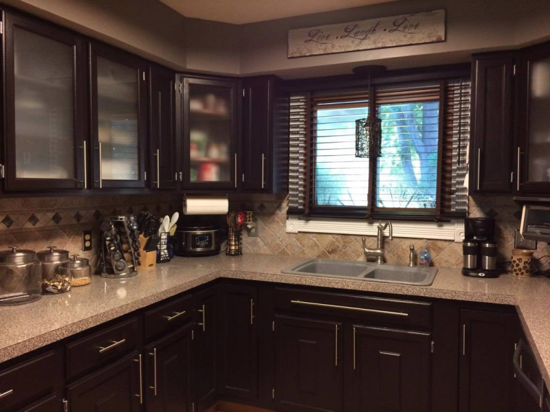 Kitchen Makeover In Dark Chocolate Milk Paint General Finishes Design Center
