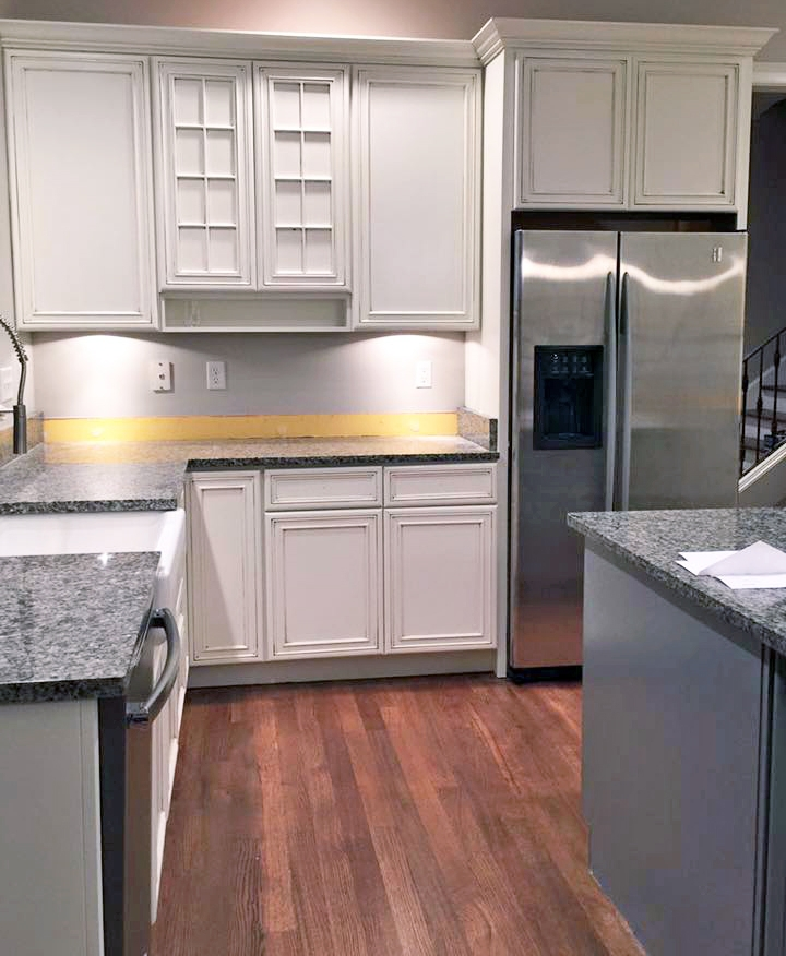 Custom Color Kitchen Cabinet Makeover
