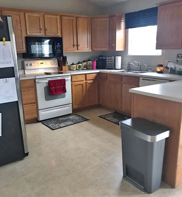 Best Way To Paint Kitchen Cabinets White: Snow White And Queenstown Gray Kitchen Cabinets