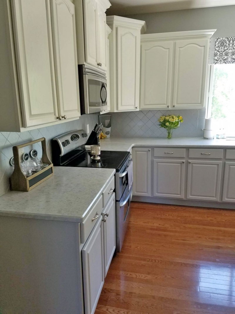 Two Toned Fancy Farmhouse Chic Kitchen Cabinets | General ...