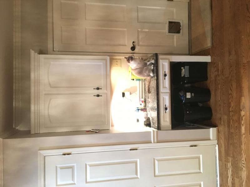 Kitchen Island Amp Kitchen Desk In Halcyon Blue Amp Snow White
