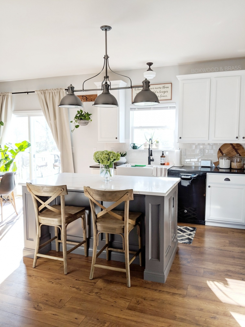 Snow White Cabinets and Driftwood Island | General ...