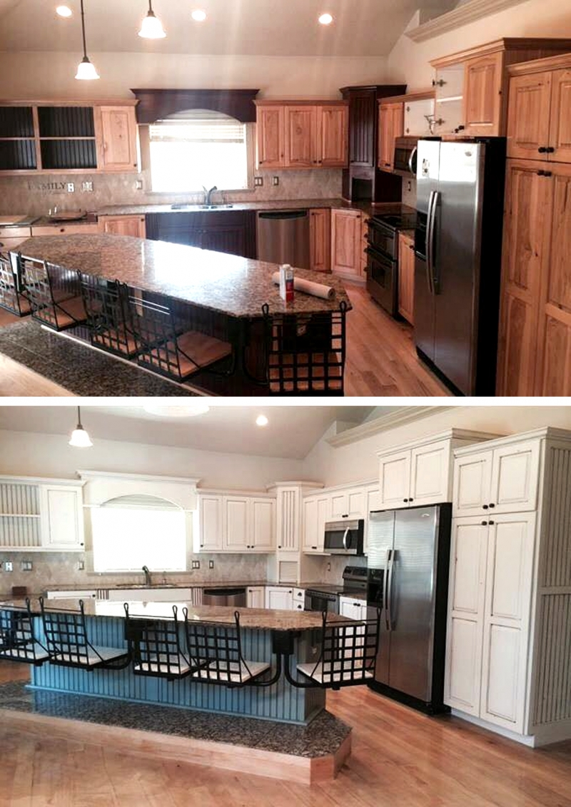 Rustic Antique White Kitchen Restyle General Finishes Design Center