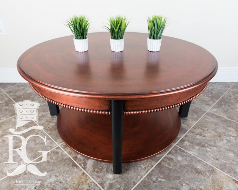 Coffee Table In Aged Hammered Copper Finish General