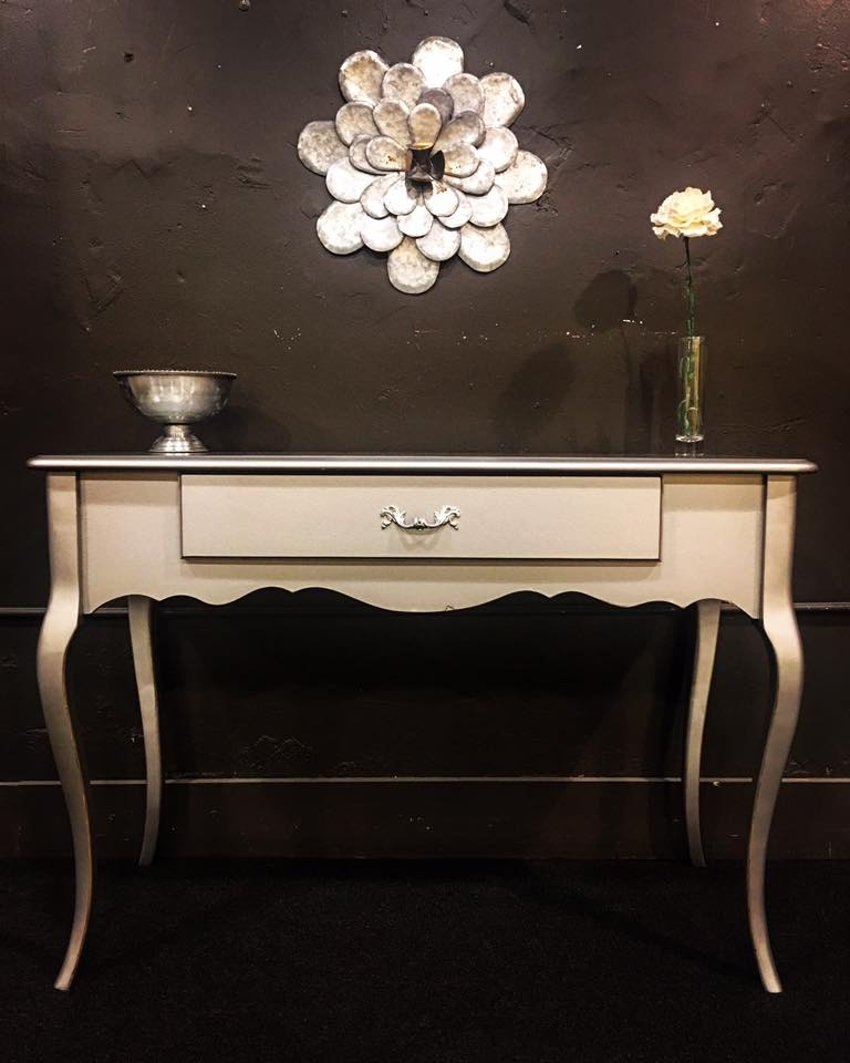 French Provincial Desk In Argentine Pearl Effects General Finishes Design Center