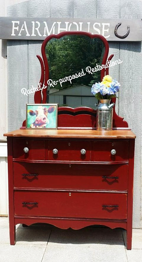 Rembrandt Red Chalk Style Paint Dresser General Finishes