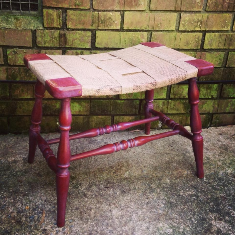 Sweet Bench In Tuscan Red Milk Paint And White Wax