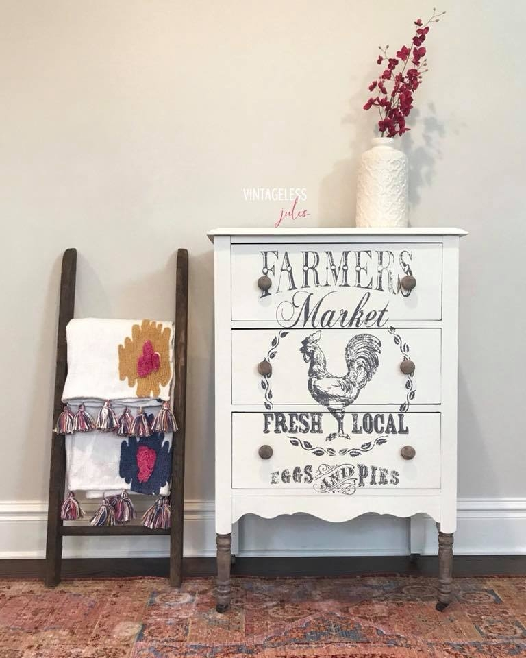 Antique White Dresser W Petite Cute Transfer General